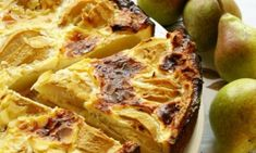 """A """"wow"""" dessert that will remind your guests of the light taste of fine French pastry. Cinnamon Pie, Pear Tart, French Pastries, Hawaiian Pizza, Afternoon Tea, Sweet Recipes, Sweet Tooth, Sweet Treats, Favorite Recipes"""