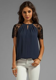 ALICE BY TEMPERLEY Regalia Top in Midnight - Alice by Temperley // revolveclothing.com