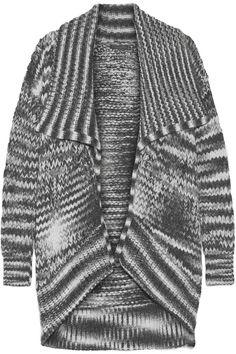 Donna Karan New York | Draped chunky-knit alpaca-blend cardigan | NET-A-PORTER.COM