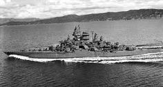 USS Tennessee BB43 after her rebuild.