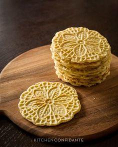 Authentic Pizzelle - Italian Waffle Cookies from @Liren Baker | Kitchen Confidante