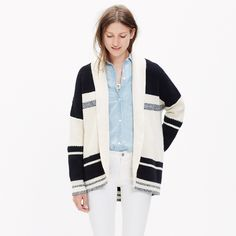 Striped Cocoon Cardigan Sweater : cardigans | Madewell