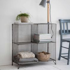 Buy the Portobello Shelving Unit from Garden Trading today! A part of our Desks & Shelving range. Western Furniture, Industrial Furniture, Industrial Style, Industrial Design, Wooden Shelving Units, Shelves, Wire Shelving, Slab Table, Space Saving Furniture