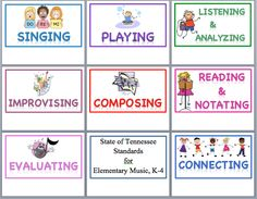 Elementary Music Standards Poster Set--Great!!!