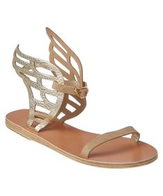 ANCIENT GREEK SANDALS | Ancient Greek Sandals Ikaria Lace Metallic Leather Wing Sandal #Shoes #Sandals #ANCIENT GREEK SANDALS