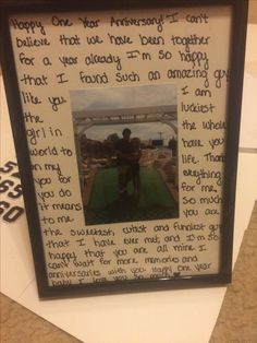 one year anniversary gift for my boyfriend!