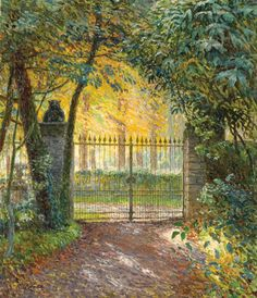 fleurdulys: Emile Claus - The Gate of Villa, Sunshine - 1912 Emile Claus (27 September 1849 – 14 June 1924) was a Belgian painter.