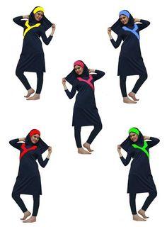Muslim Woman Modest Swim Wear Beach Attire Swimming Suit Pool Cover Costume Gift