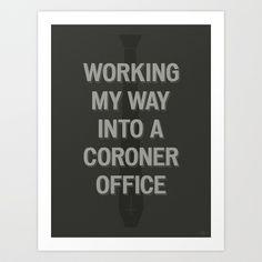 The Coroner Office Art Print by Phil Jones