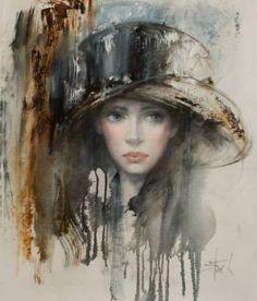 "Saatchi Art Artist Stas Sugint; Painting, ""Parisienne"" #art"