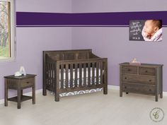 In our Peaceful Dreams Nursery Set, simple Mission style teams up with Amish handcrafted construction, setting the stage for many nights of peaceful slumber and many days of organized bliss.