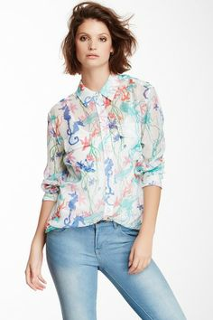 Signature Floral Silk Blouse by Equipment on @HauteLook