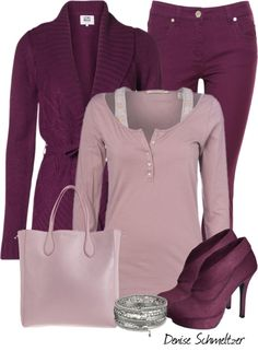 """""""Plum and Lavender"""" by denise-schmeltzer on Polyvore"""