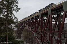 A freight train passing over the new bridge at Upper Falls, courtesy Tin Can Photography.