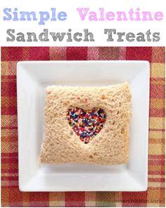 Simple Valentine Sandwich Treats -- so CUTE!!