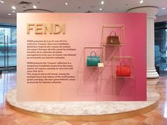 Fendi   Podium Crayons at Galeries Lafayette, Paris visual merchandising