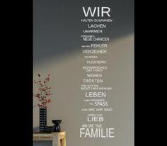 """Wandtattoo - Wandtattoo Spruch """"Familie Haus..."""" 9... - ein Designerstück von sportmattis bei DaWanda"""