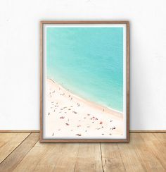 Aerial Beach Photography Digital Download Printable Beach