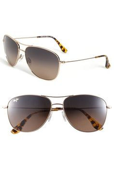 Free shipping and returns on Maui Jim 'Cliff House - PolarizedPlus®' 59mm Metal Aviator Sunglasses at Nordstrom.com. Classic aviator style defines polarized sunglasses crafted from ultra-light titanium. The scratch- and impact-resistant PolarizedPlus® lenses enhance color while reducing glare.