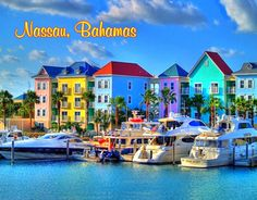 $3.25 - Bahamas - Nassau - Bright Color Houses - Flexible Fridge Magnet #ebay #Collectibles