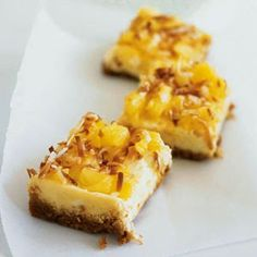 Weight Watchers Recipes: Pina Colada Cheesecake Bars (3 Points+)