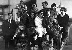 Anni Albers and members of the weaving workshop, Bauhaus Dessau, ca. 1927  Photograph by Lotte Stam-Beese