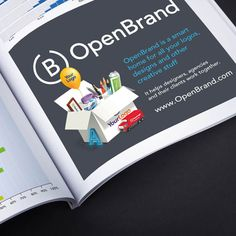 An example of a half page ad in a magazine showcasing OpenBrand's new Live Previews feature.