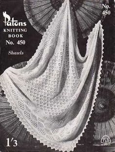 Knitted Shetland baby shawl - free pattern. Note: There is a variance between written instructions and chart - alternate rows should be purl not knit.