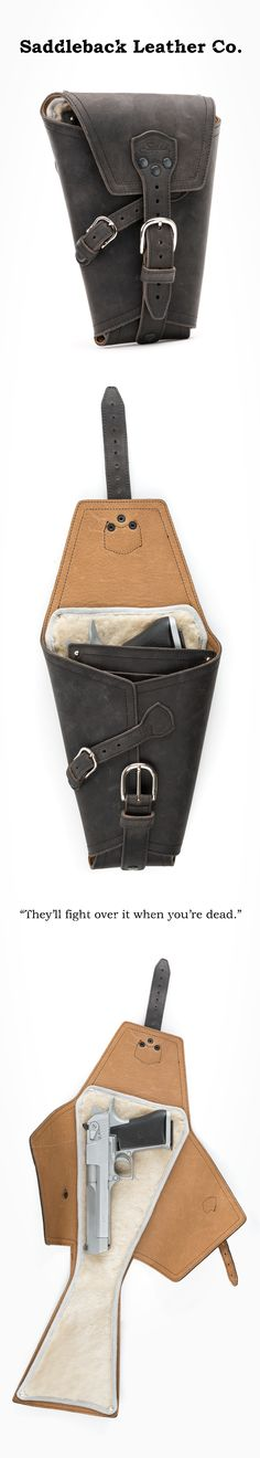 The Saddleback Leather Pistol Wrap in Carbon   100 Year Warranty   $209.00