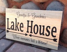 NEW-Personalized Lake House sign. Made out of Colorado Beetle Kill pine by likeIsaid on Etsy