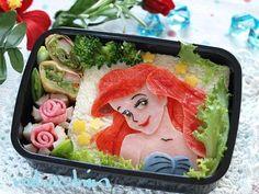 Ariel sandwich bento