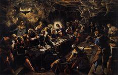 Jacopo Tintoretto, Last Supper Venice San Giorgio Maggiore Italian Renaissance Art, Renaissance Kunst, National Gallery Of Art, Art Gallery, Oil On Canvas, Canvas Art, Giorgio Vasari, Value In Art, Vanishing Point