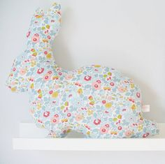 betsy liberty rabbit cushion by little cloud | notonthehighstreet.com