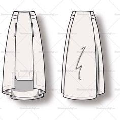 Women's A-line Skirt Fashion Flat Vector Template