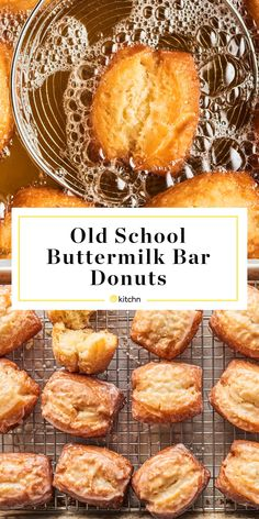 Old-Fashioned Buttermilk Bar Donuts Are Crispy, Fluffy Perfection Buttermilk Bar Donut Recipe, Old Fashioned Buttermilk Donut Recipe, Baked Buttermilk Donuts Recipe, Old Fashioned Cruller Recipe, Recipes With Buttermilk, Old Fashioned Recipes, Beignets, Old Fashioned Donut, Donut Recipes