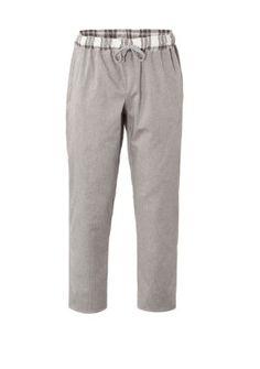 Pantalone da Cuoco Originale Sabbia con Profili a Quadri Beige