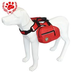 2 IN 1 OUTDOOR PETS HARNESS REFLECTIVE DOG BACKPACK SADEL