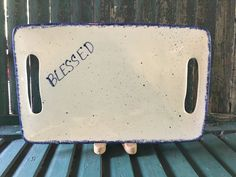Blessed Serving Tray - Serving Dish - Can be customized or personalized gift with any name or word by MollyDallasCo on Etsy