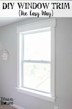 Diy Craftsman Door And Window Trim So Simple It Only