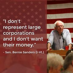 Bernie Sanders refuses to be bought out. He doesn't need their money because he speaks the truth and he speaks about the needs of the people. Sen Bernie Sanders, Bernie Sanders For President, Democratic Socialist, Political Views, Political Quotes, Political Art, Presidential Election, Sentences, In This World
