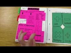 Resource Math Interactive Notebook - YouTube Love this_ going to model math journals after this next year!