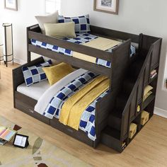 4 Reasons You Should Install Bunk Beds In Your Bedroom – Home Dcorz Bunk Beds With Drawers, Bunk Beds With Storage, Bunk Beds With Stairs, Bed Storage, Record Storage, Storage Drawers, Double Bunk Beds, Full Bunk Beds, Kids Bunk Beds