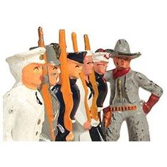 c.1935 Sailors, Marines, Cadet, and Cowboy Cast Metal Soldiers