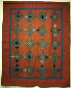 Ohio Amish Quilt, Twinkle Stars, dated Dena Miller, Holmes County Amische Quilts, Fall Quilts, Star Quilts, Mini Quilts, Antique Quilts, Vintage Quilts, Vintage Textiles, Make Do, Civil War Quilts