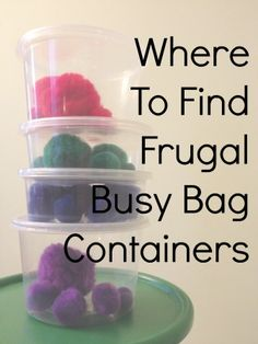 Where to Find Frugal Busy Bag Containers | SimplyRebekah.com