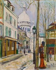 Artwork by Maurice Utrillo, La Place St. Pierre et la Sacré Coeur de Montmartre, Made of Oil on canvas