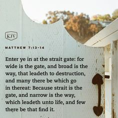 KJV Verse of the Day: Matthew 7:13-14
