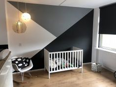 This kind of boys bedroom loft is honestly an exceptional design theme. Bedroom Wall Designs, Bedroom Wall Colors, Accent Wall Bedroom, Boys Bedroom Decor, Baby Room Decor, Nursery Room, Bedroom Loft, Chambre Nolan, Boy Room Paint