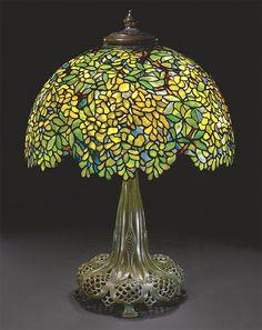 Original Tiffany Lamps | Rare Tiffany Studios Laburnum table lamp, Sotheby's lot 227