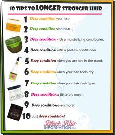 10 tips to longer stronger hair